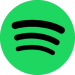 Spotify Black with Transparent BG